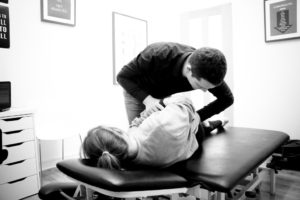 Andy Davies Chiropractor in Cardiff at work